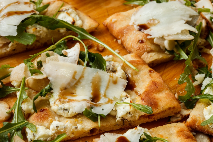 Pizza with Porcini Salad-35