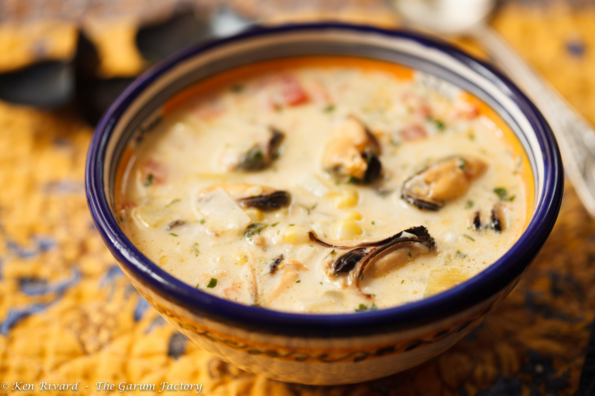 Corn And Mussel Chowder The Garum Factory