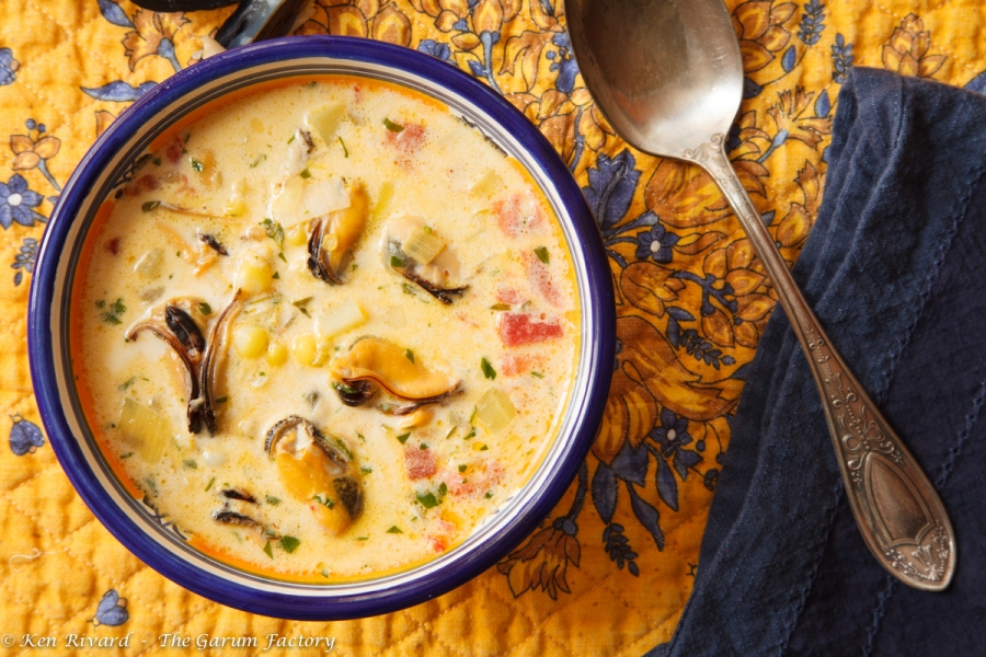 Corn and Mussel Chowder-3926-1