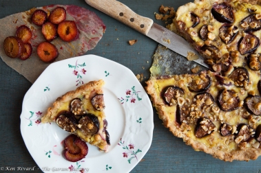 Fig, Plum and Hazelnut Tart-530-8819