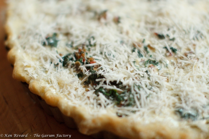 Swiss Chard Tart with Anchovies and Gruyere-8126