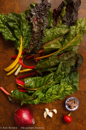 Swiss Chard Tart with Anchovies and Gruyere-8141