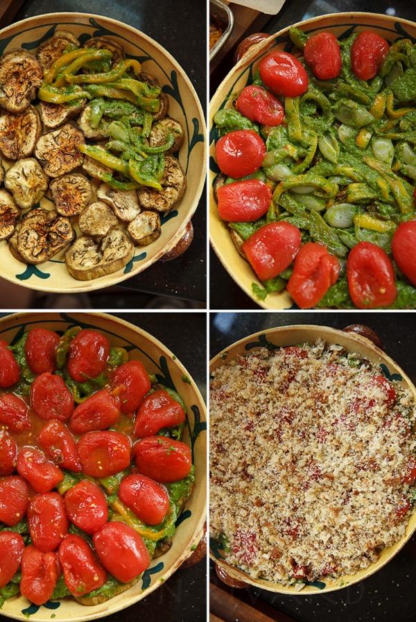 Eggplant, Pepper and Tomato Gratin-23