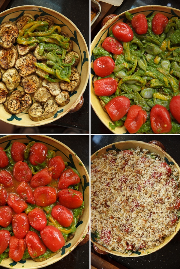 Eggplant, Pepper and Tomato Gratin-23