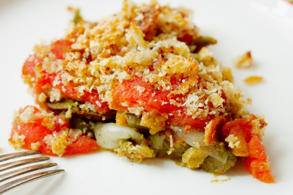 Eggplant, Pepper and Tomato Gratin-29