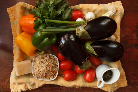 Eggplant, Pepper and Tomato Gratin-3