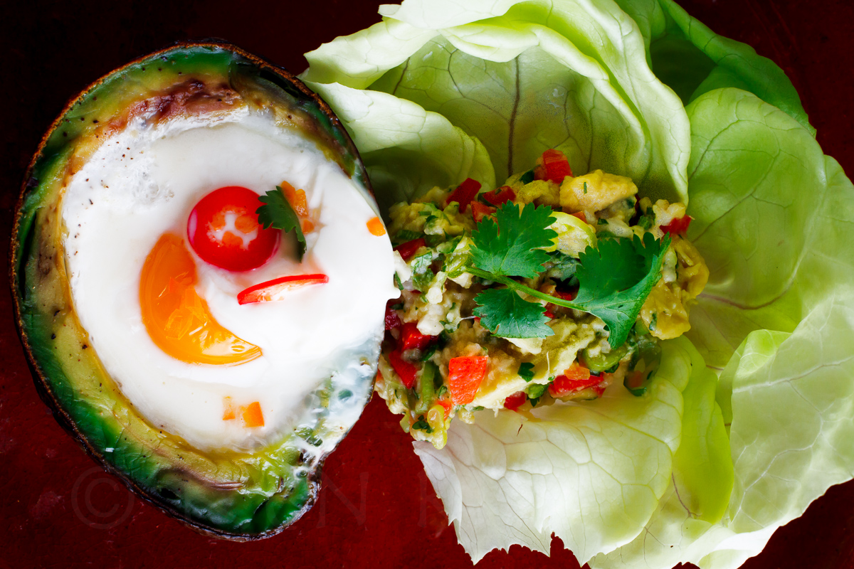 Eggs Baked in Avocado-1