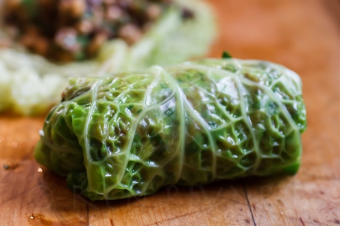 Stuffed Cabbage with Farro, Mushrooms and Chicken Livers-28-10559