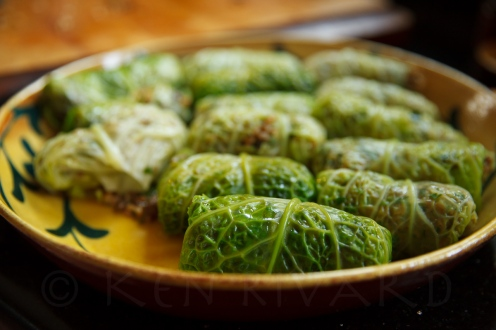 Stuffed Cabbage with Farro, Mushrooms and Chicken Livers-29-2