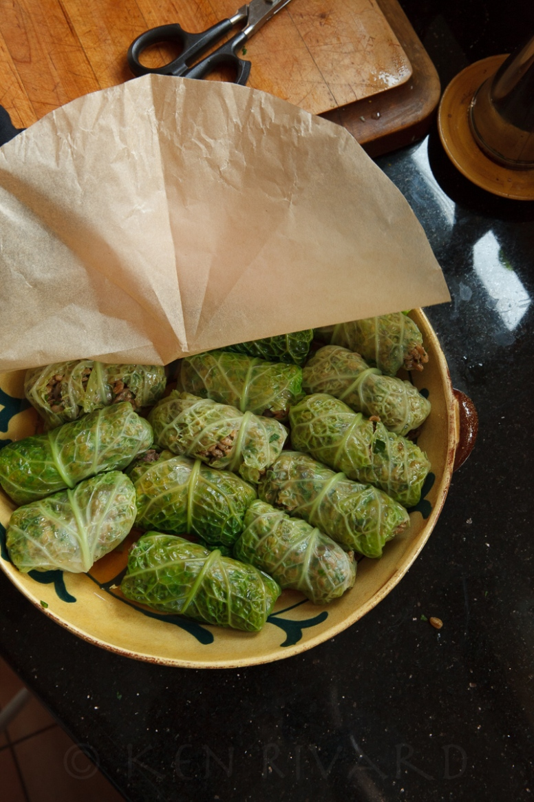 Stuffed Cabbage with Farro, Mushrooms and Chicken Livers-31-10893