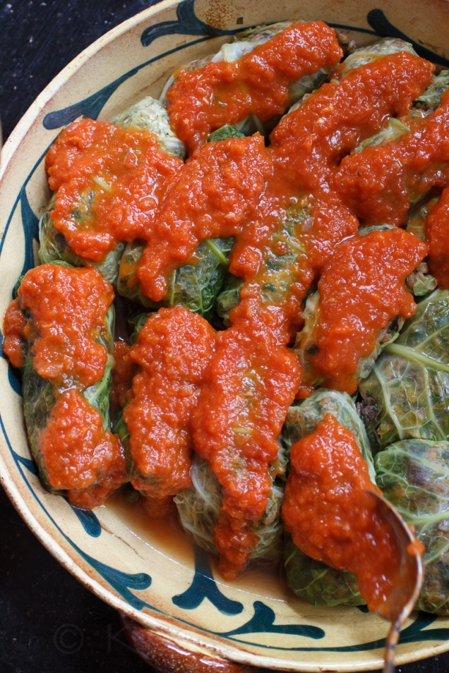 Stuffed Cabbage with Farro, Mushrooms and Chicken Livers-33-10642