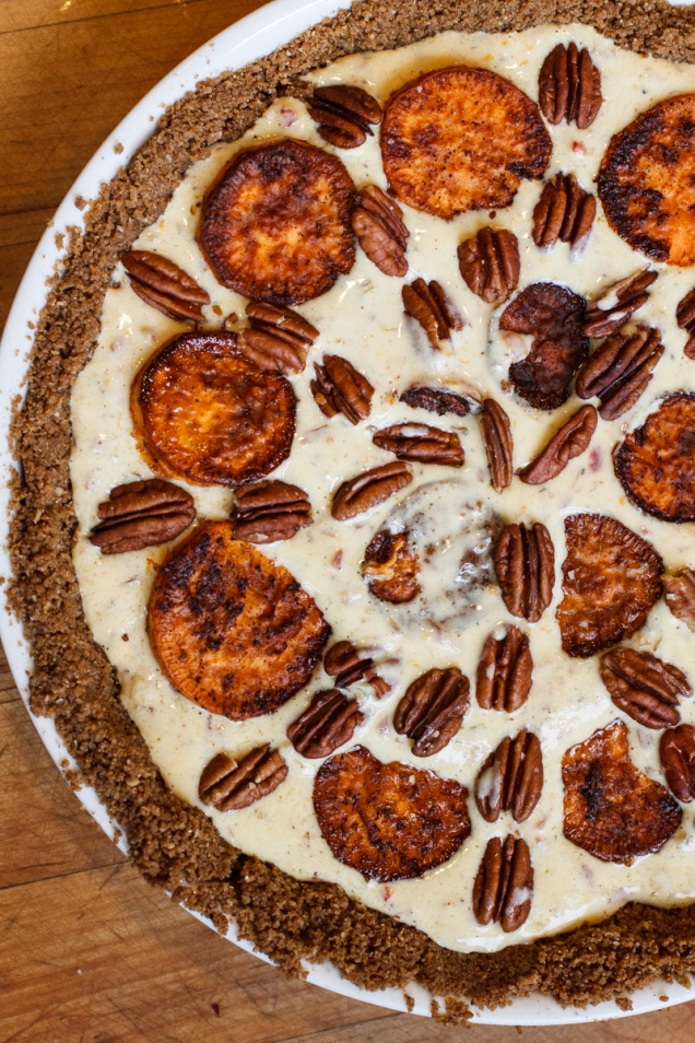 Sweet Potato and Gruyère Pie with Pecans-12900