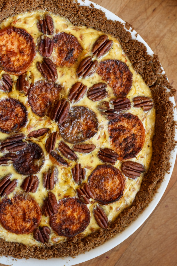Sweet Potato and Gruyère Pie with Pecans-12928-2