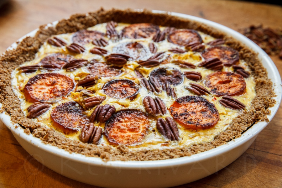 Sweet Potato and Gruyère Pie with Pecans-13148