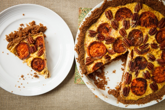 Sweet Potato and Gruyère Pie with Pecans-13168