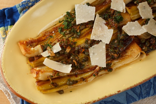 Braised Leeks with Meyer Lemon, Pancetta and Parmigiano Reggiano -49
