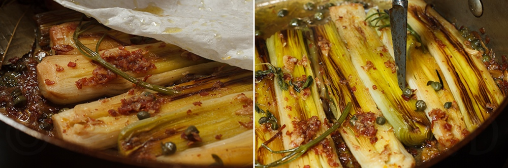 Braised Leeks with Meyer Lemon, Pancetta and Parmigiano Reggiano -9