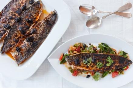 Spanish Mackerel, Saffron and Honey with Fennel - Blood Orange Salad-1
