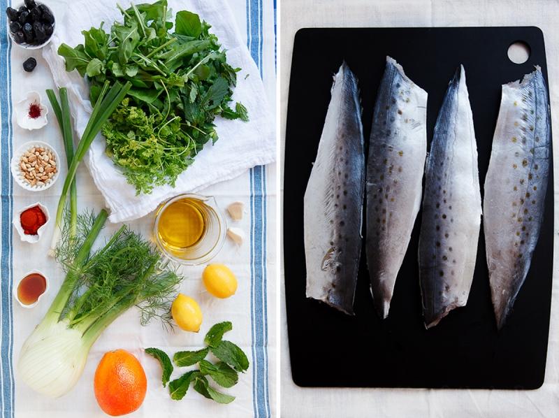 Spanish Mackerel, Saffron and Honey with Fennel - Blood Orange Salad-3