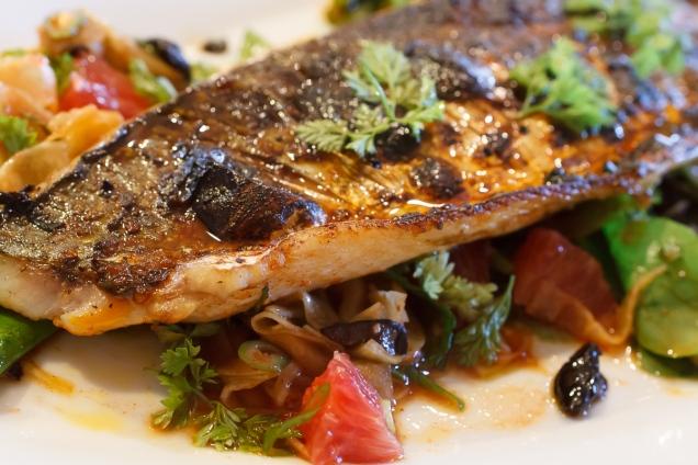 Spanish Mackerel, Saffron and Honey with Fennel - Blood Orange Salad-44