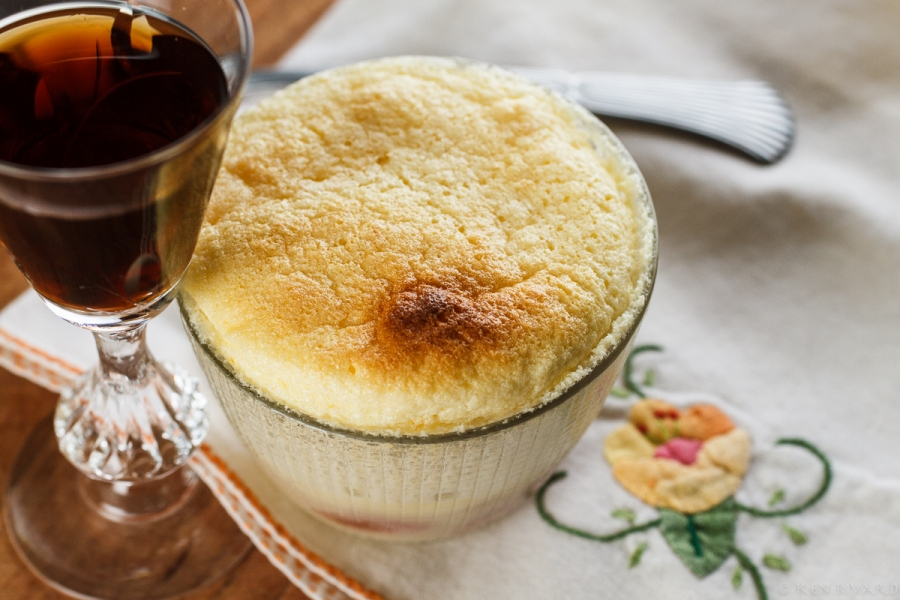 Lemon-Rhubarb Custard Soufflé-3197