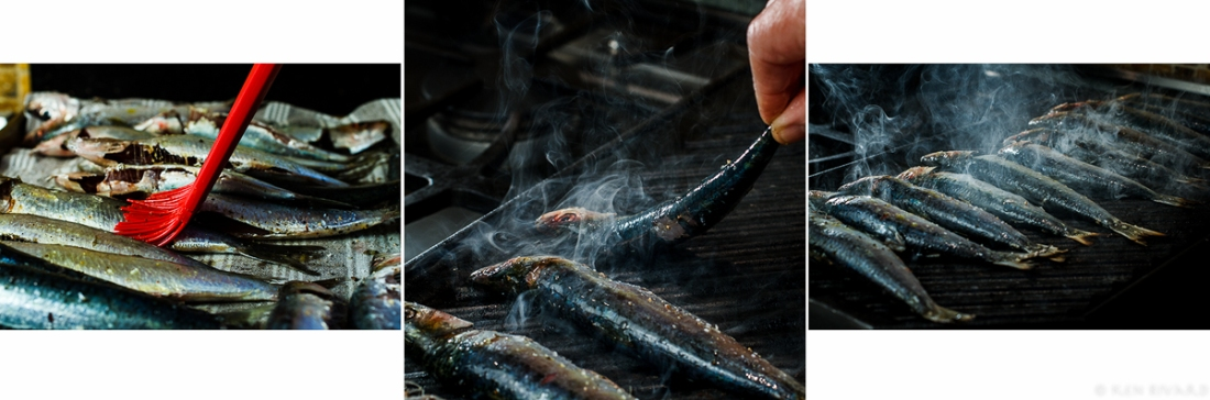 Grilled Sardine with Ramp and Rhubarb Agrodolce 3-4-2