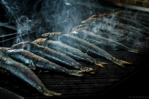 Grilled Sardines with Ramps and Rhubarb Agrodolce-4710