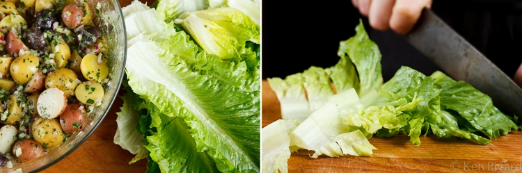 Potato Salad with Wilted Lettuce and Dijon Vinaigrette 2-3-2