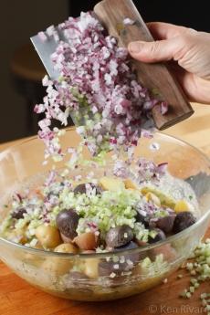 Potato Salad with Wilted Lettuce and Dijon Vinaigrette-7111