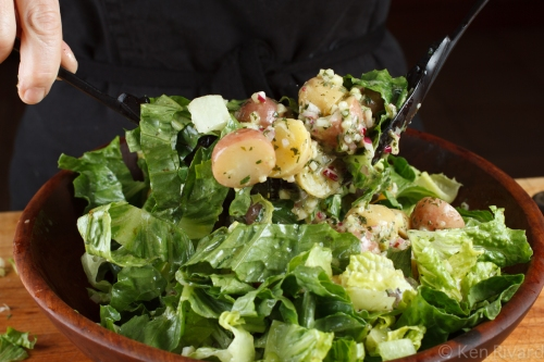 Potato Salad with Wilted Lettuce and Dijon Vinaigrette-7184