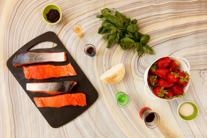 Salmon with Strawberries-0502