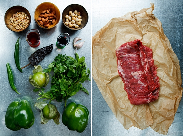 Skirt Steak with Green Romesco 2-1-2