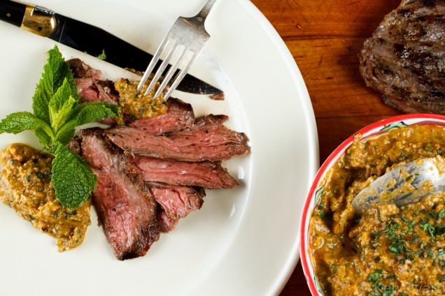Skirt Steak with Green Romesco-7420