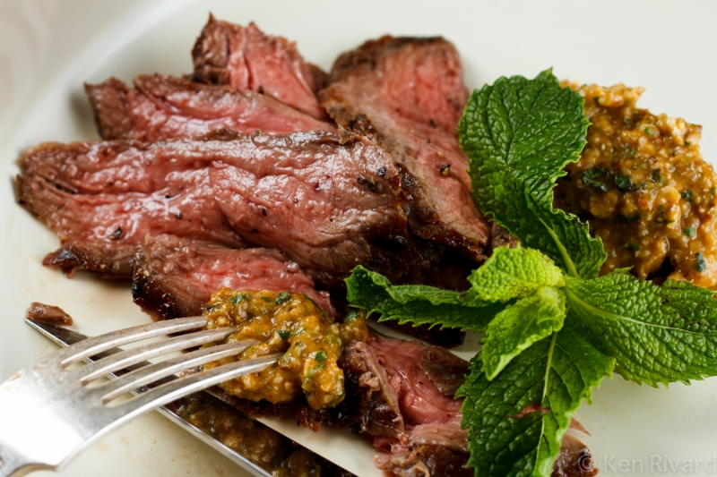 Skirt Steak with Green Romesco-7421