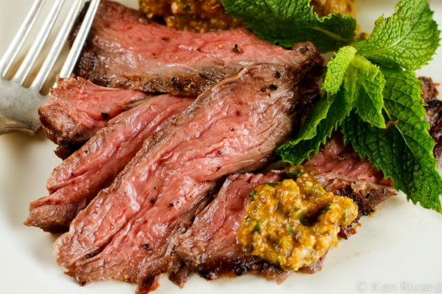 Skirt Steak with Green Romesco-7424