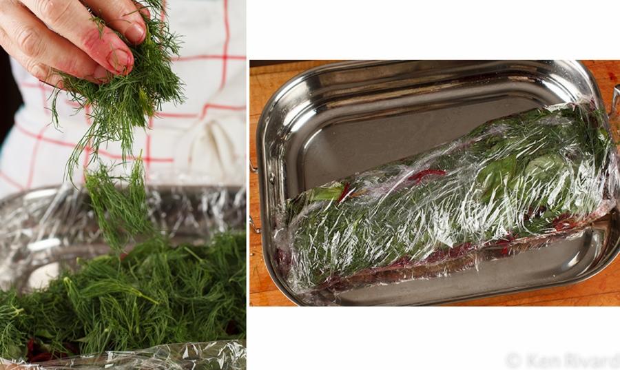 Beet-cured gravlax 2-4-2