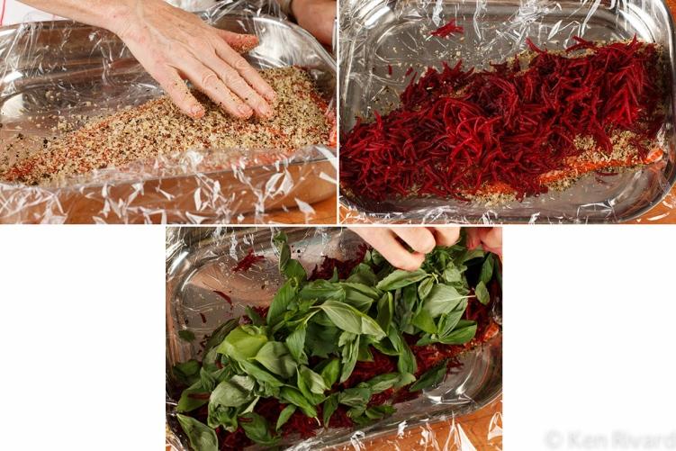 Beet-cured gravlax 3-5-2