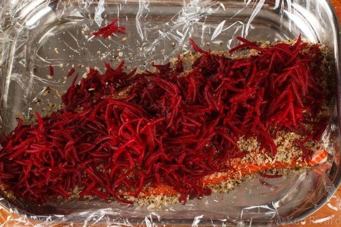 Beet-cured gravlax-7876