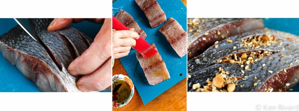Bluefish with Dukkah, Tomatoes and Garlic Yogurt-16
