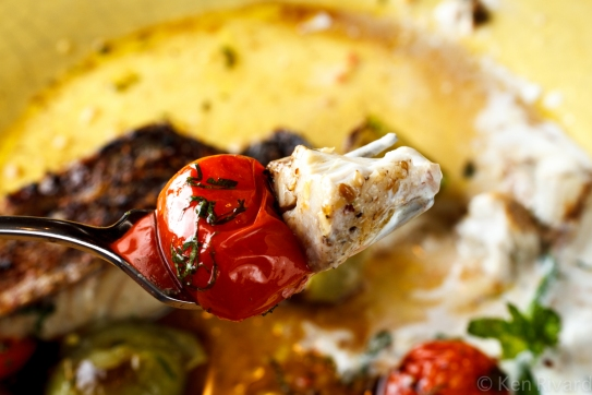 Bluefish with Dukkah, Tomatoes and Garlic Yogurt-29