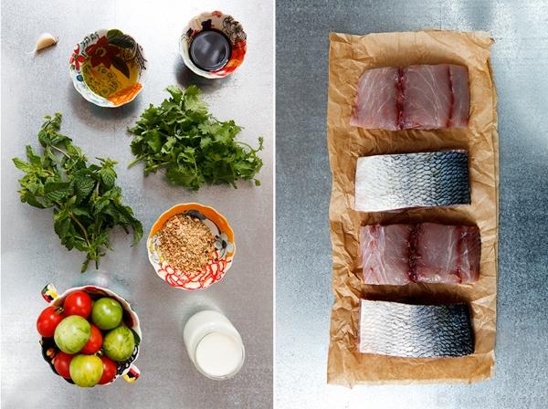 Bluefish with Dukkah, Tomatoes and Garlic Yogurt-5