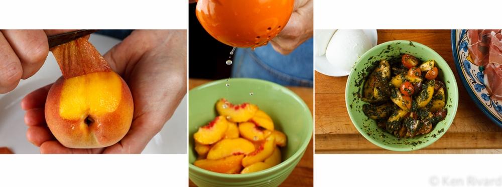 Peach prosciuto antipasto 3-1-2