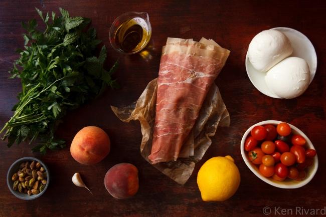 Peach prosciuto antipasto-9620