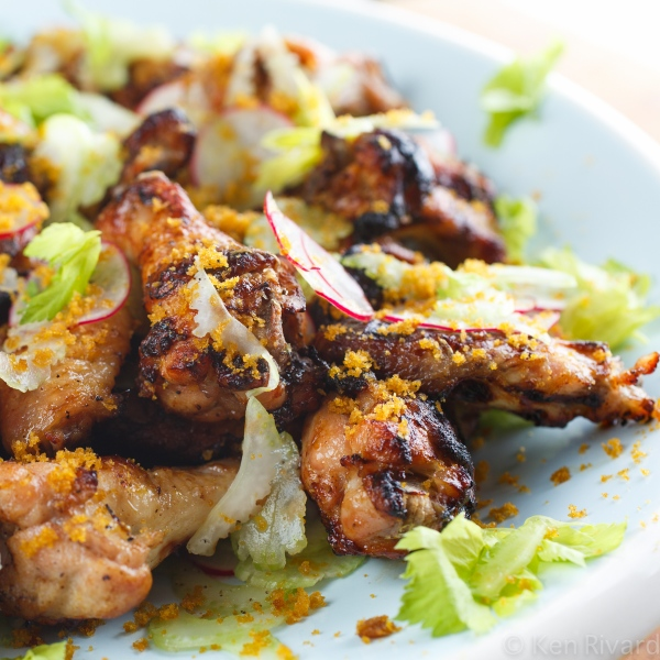 Chicken Wings with Celery and Bottarga-2453