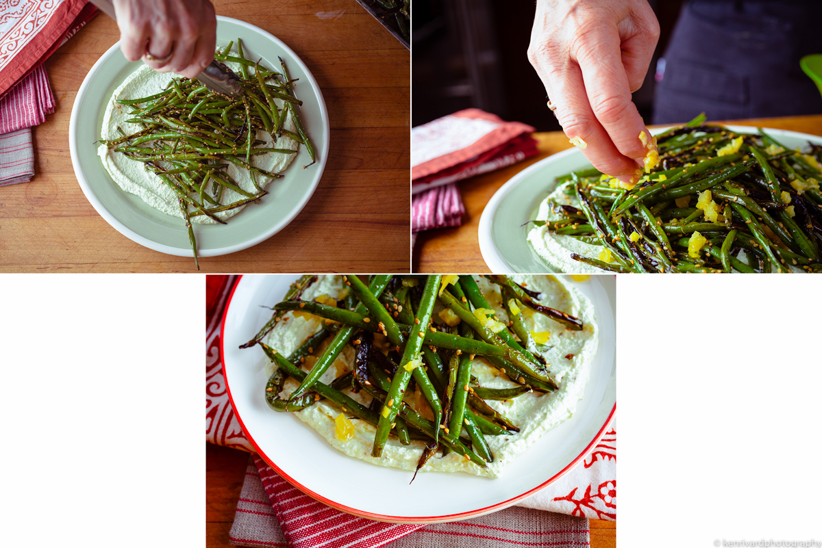 Seared Green Beans with Whipped Feta 3-2-2