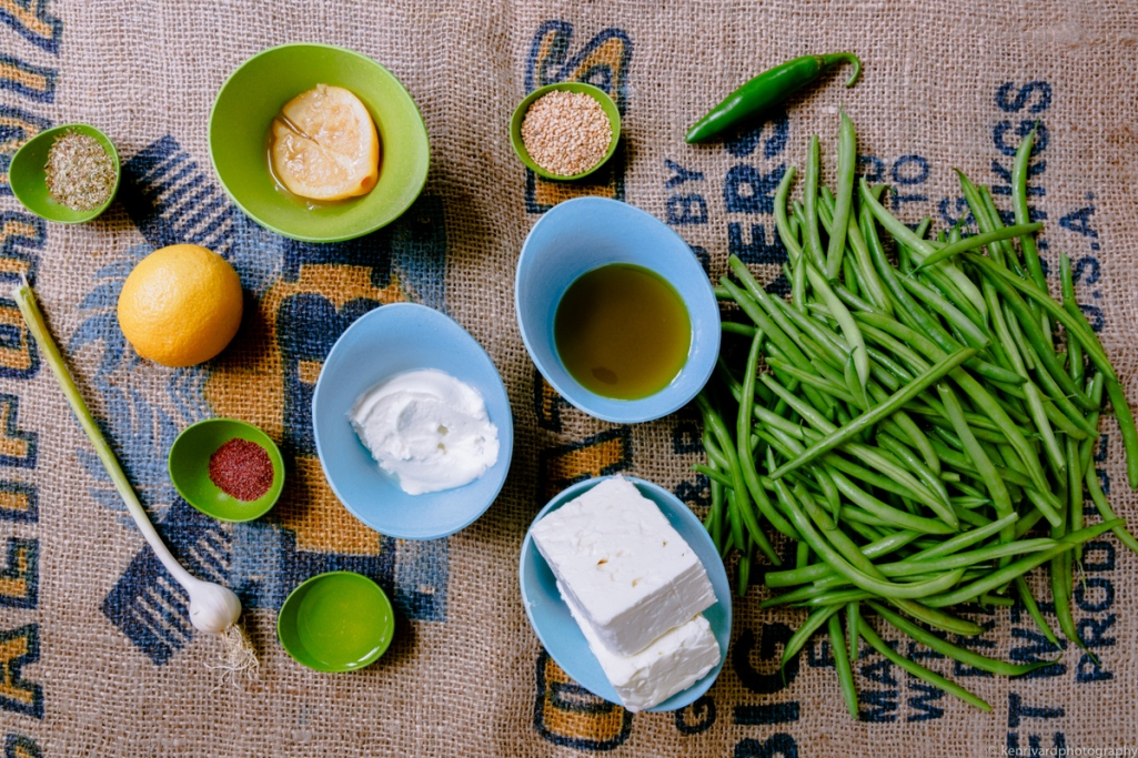 Seared Green Beans with Whipped Feta-3255
