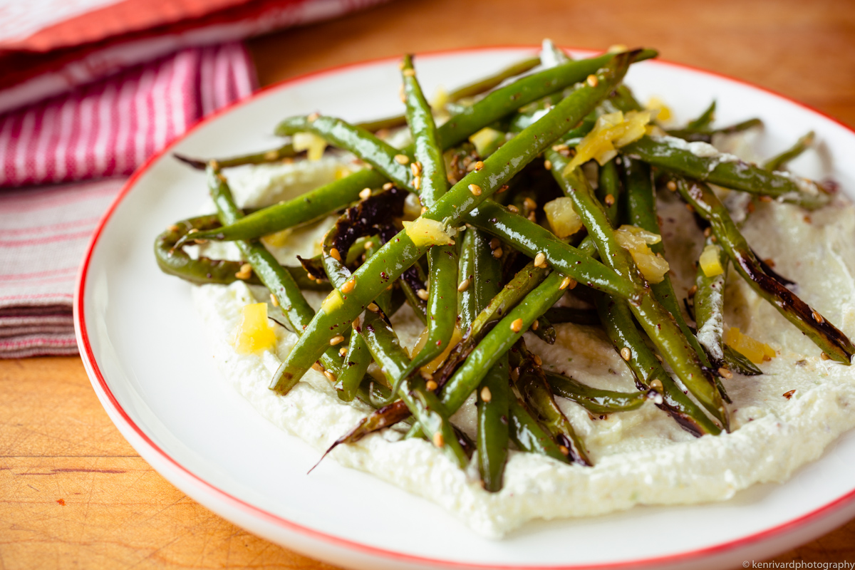 Seared Green Beans with Whipped Feta-3533