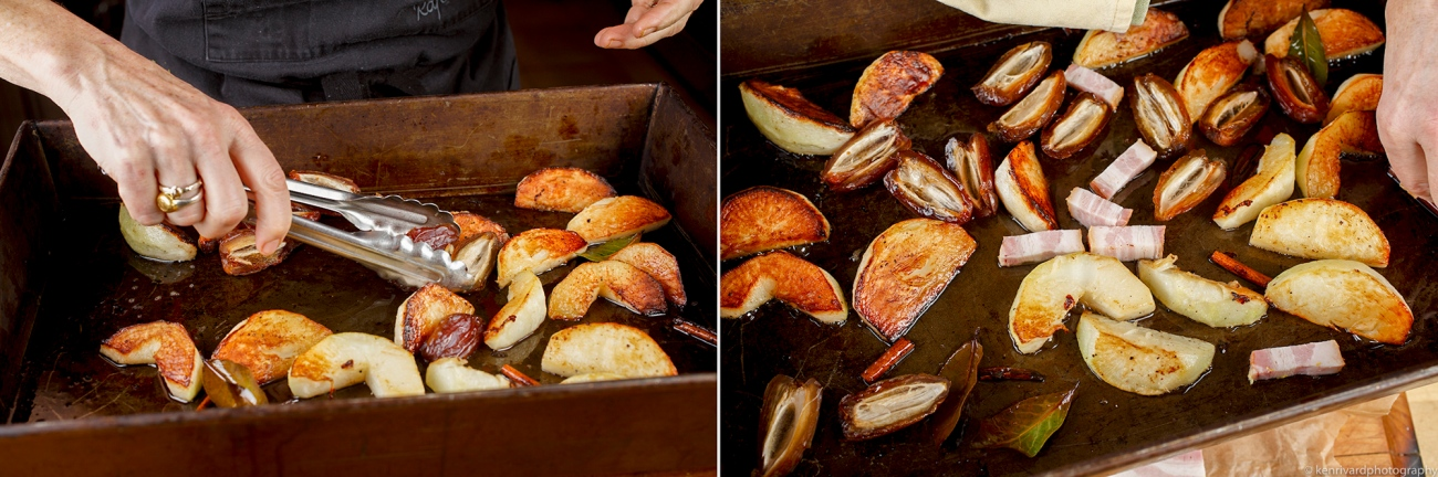 Roasted turnips with bacon and dates 2-3-2